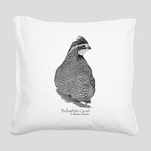 Bobwhite Quail Square Canvas Pillow