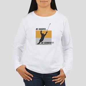 Hockey Player Women's Long Sleeve T-Shirt