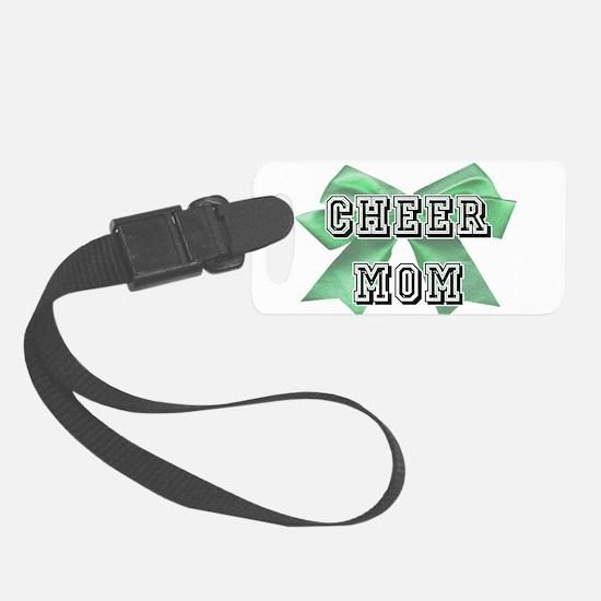 Green Cheer Mom Luggage Tag