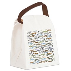 School of Sharks 2 Canvas Lunch Bag