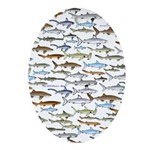 School of Sharks 2 Ornament (Oval)