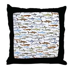 School of Sharks 2 Throw Pillow