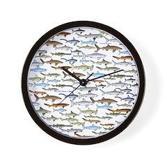 School of Sharks 2 Wall Clock