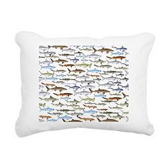 School of Sharks 2 Rectangular Canvas Pillow