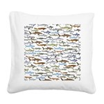 School of Sharks 2 Square Canvas Pillow