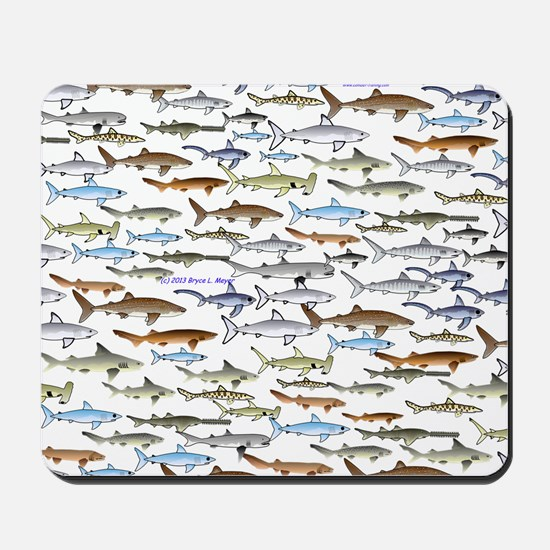 School of Sharks 2 Mousepad