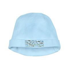School of Sharks 2 baby hat