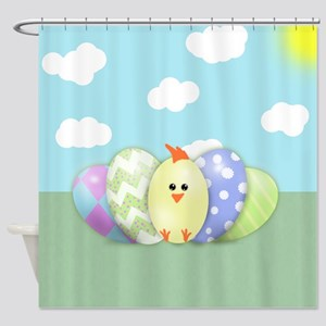 Easter Chick (sc) Shower Curtain