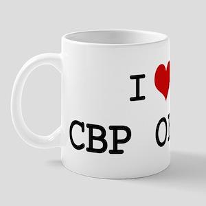 I Love CBP OFFICER Mug