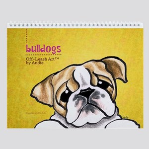 Bulldogs Off-Leash Art Vol 1 Wall Calendar
