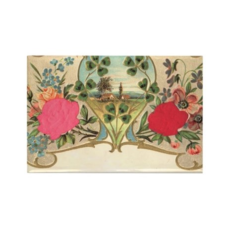 flowers and landscape Rectangle Magnet