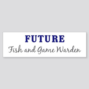 Future Fish and Game Warden Bumper Sticker