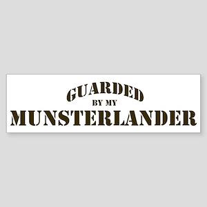 Munsterlander: Guarded by Bumper Sticker