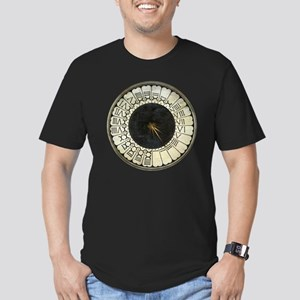 Clock in the Duomo by Men's Fitted T-Shirt (dark)