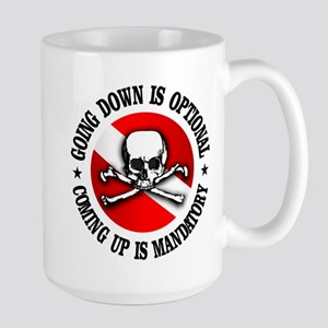 Going Down Is Optional Mug