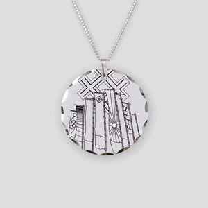 japan-banners Necklace Circle Charm