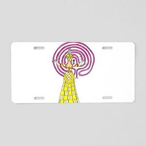 snake-goddess-c1 Aluminum License Plate