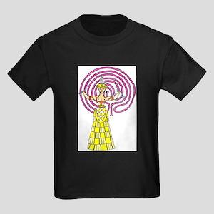 snake-goddess-c1 Kids Dark T-Shirt