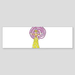 snake-goddess-c1 Sticker (Bumper)