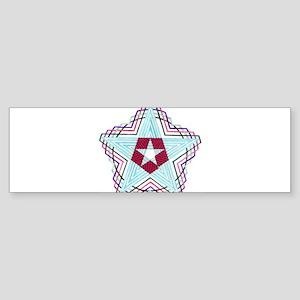 Pentagram Checks Color 1 Sticker (Bumper)