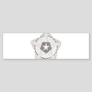 Pentagram Three Sticker (Bumper)