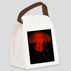 Red Jelly Fish Canvas Lunch Bag