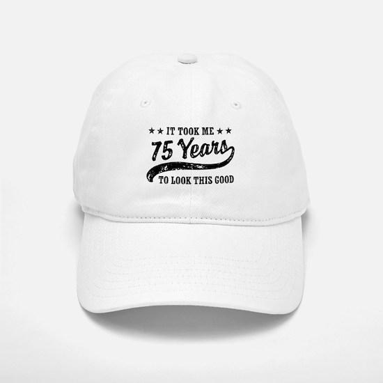 Funny 75th Birthday Baseball Baseball Cap