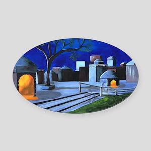 Ganges Moonlight by Anne Alden Oval Car Magnet