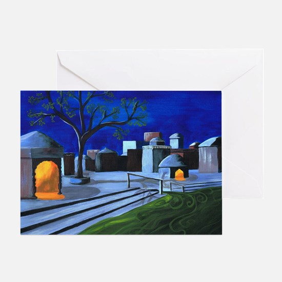 Ganges Moonlight by Anne Alden Greeting Card