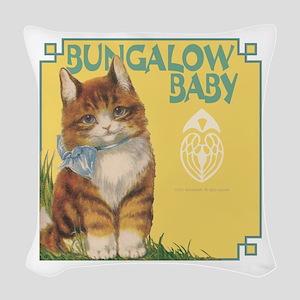 Baby.3 Woven Throw Pillow