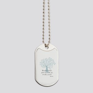 Be the Change Tree Dog Tags