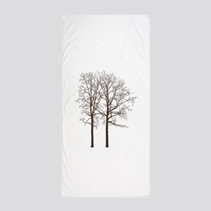 Brown Trees Beach Towel