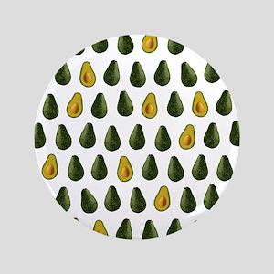 """Avocado Pattern 3.5"""" Button"""