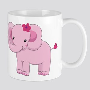 Cute Pink Baby Girl Elephant Mug