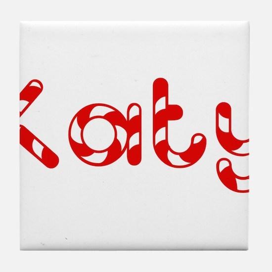 Katy - Candy Cane Tile Coaster