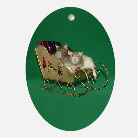 Brim & Panda Oval Ornament