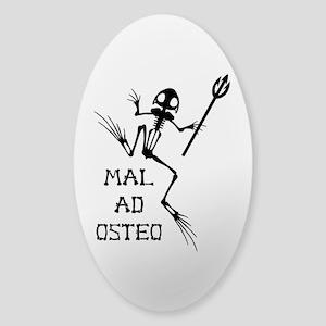 Desert Frog w Trident - MAO Sticker (Oval)