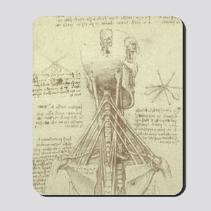 Spinal Column by Leonardo da Vinci Mousepad