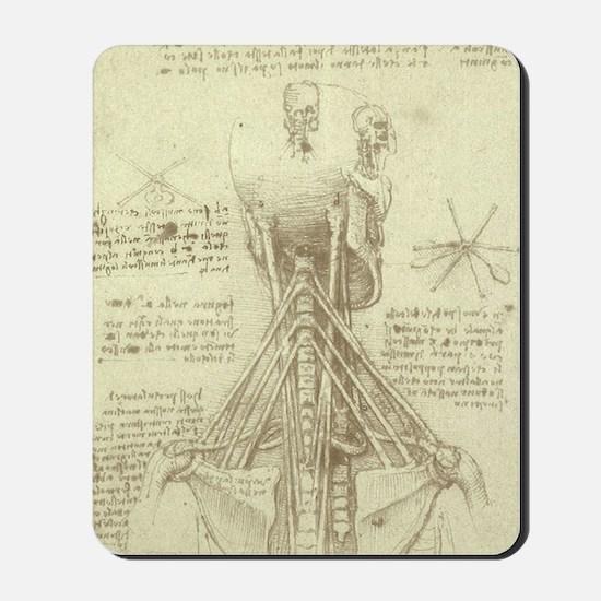 Spinal Column by Leonardo da Vinci Mousepad
