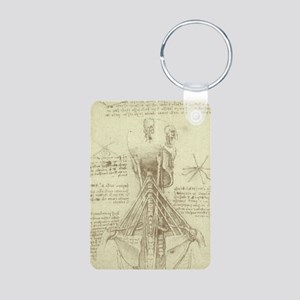 Spinal Column by Leonardo Aluminum Photo Keychain