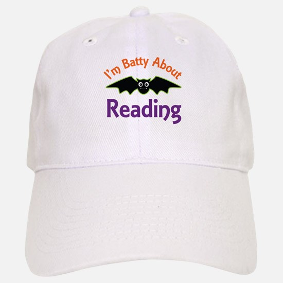 Batty About Reading Baseball Baseball Cap