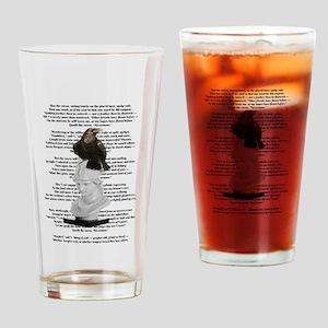 Edgar Allen Poe The Raven Poem Drinking Glass