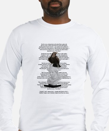 Edgar Allen Poe The Raven Poem Long Sleeve T-Shirt