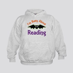 Batty About Reading Kids Hoodie