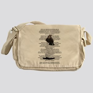 Edgar Allen Poe The Raven Poem Messenger Bag