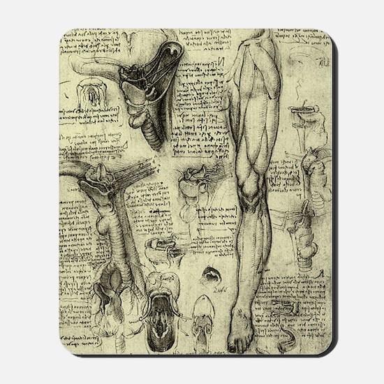 Larynx and Leg by Leonardo da Vinci Mousepad