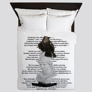 Edgar Allen Poe The Raven Poem Queen Duvet