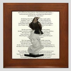 Edgar Allen Poe The Raven Poem Framed Tile