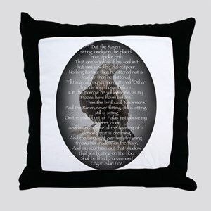 Edgar Allen Poe The Raven Poem Throw Pillow