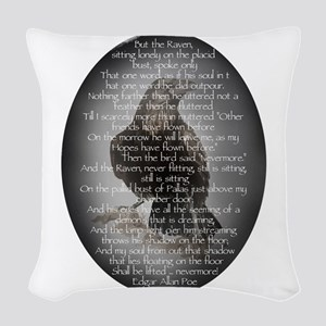 Edgar Allen Poe The Raven Poem Woven Throw Pillow
